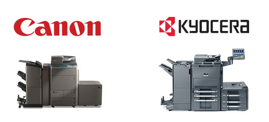 Canon and Kyocera Copiers